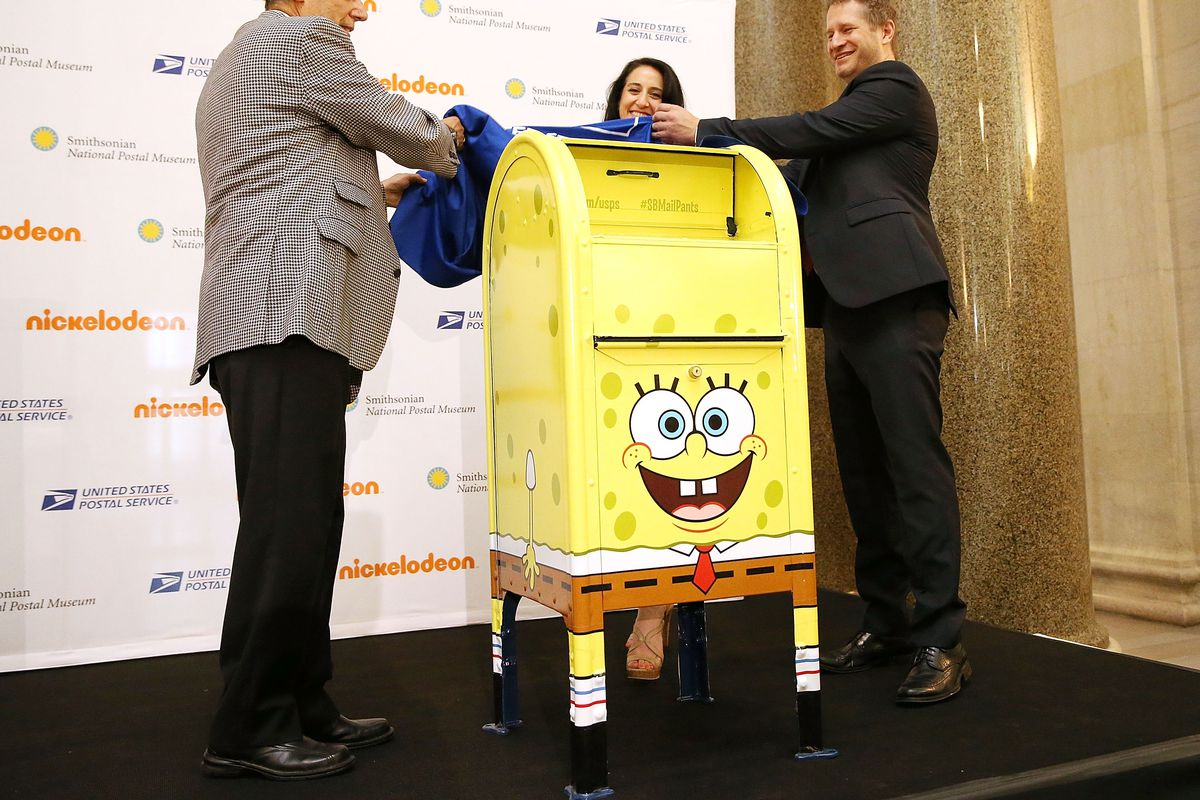 SpongeBob Mailbox Inducted Into The National Postal Museum