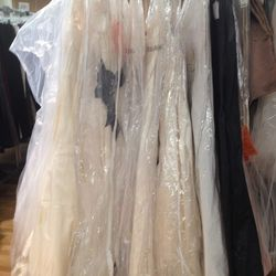 Vera Wang wedding gowns, ranging from $1,299 to $2,199
