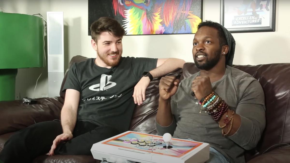 """Steve """"Tasty Steve"""" Scott (right) plays fighting games alongside Stephen """"Sajam"""" Lyon (left) on the CrossCounterTV YouTube channel."""