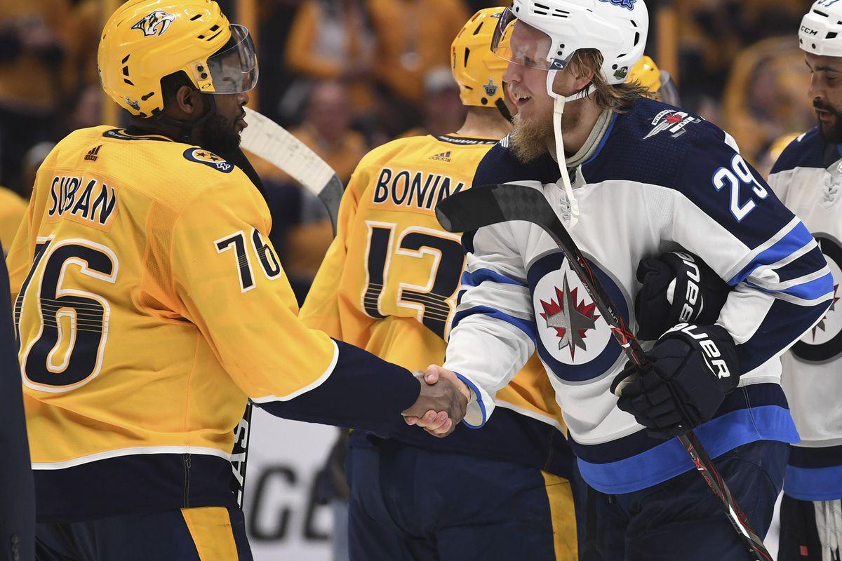 on sale 79474 a3b38 Winnipeg Jets vs. Nashville Predators: Turbulence Ahead - On ...