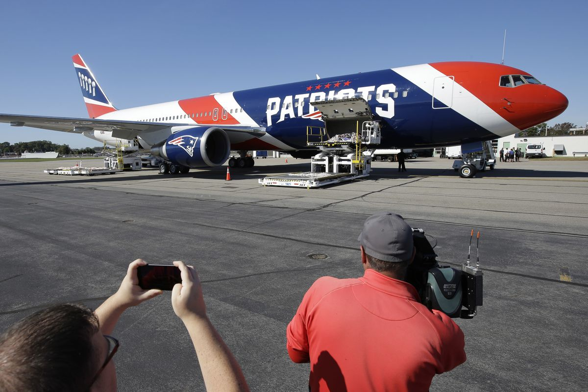The Patriots private team plane was used to carry more than 1 million N95 masks from China to the United States to help control the spread of the coronavirus.