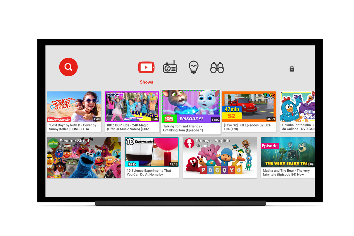 YouTube's family-friendly Kids app is now available on smart TVs