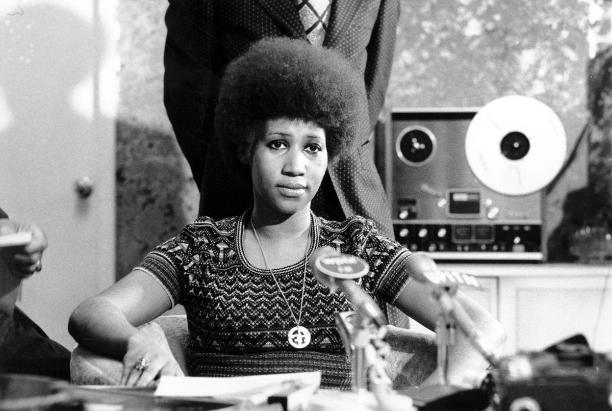 In this March 26, 1973 file photo, soul singer Aretha Franklin appears at a news conference. Franklin died Thursday, Aug. 16, 2018 at her home in Detroit. She was 76. | (AP Photo, File)