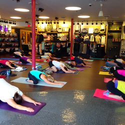 Racked readers warming up with <b>B fit Los Angeles</b>.