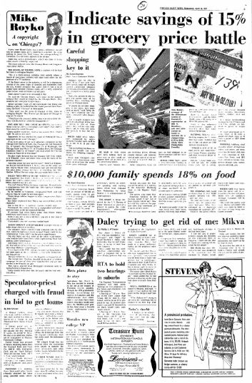 Page 3 of the April 16, 1975 Chicago Daily News.