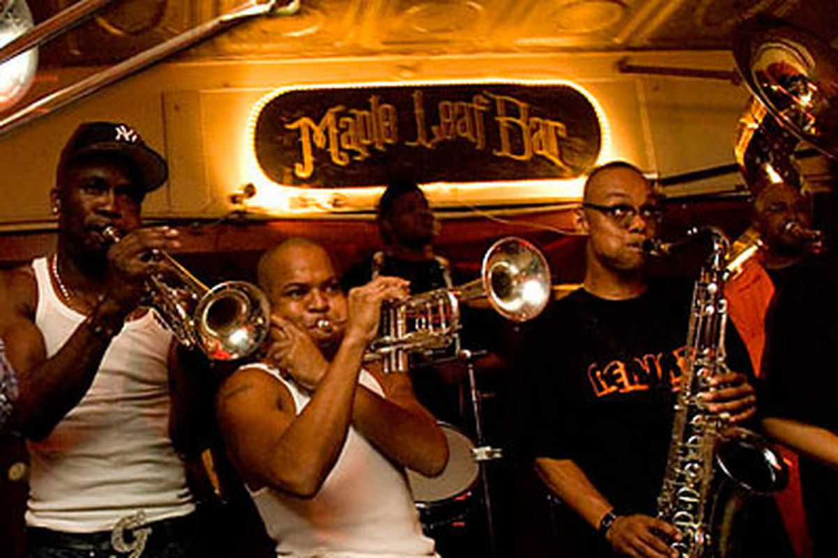 Grammy-winning group Rebirth Brass Band at the Maple leaf Bar. Oak Street is hosting a block party tonight outside the Maple Leaf to celebrate their Grammy win.