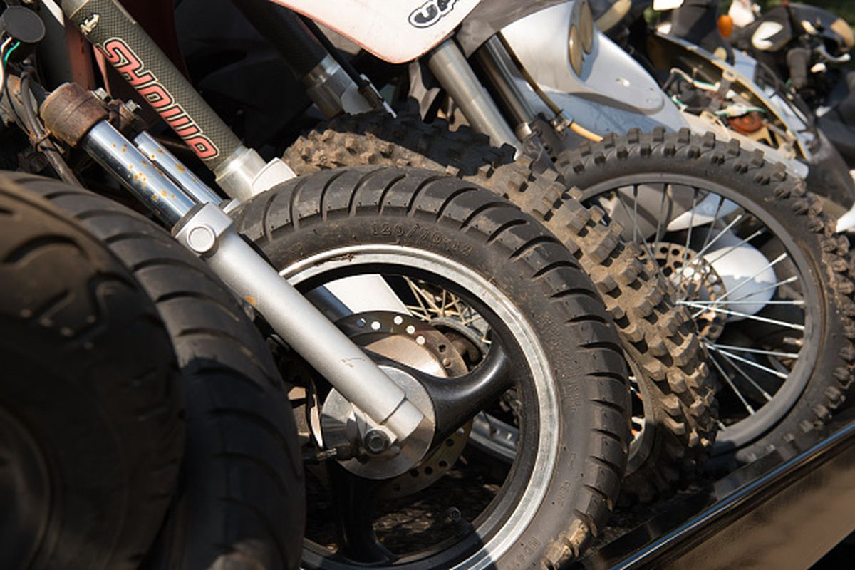 The District of Columbia Police department destroyed these dirt bikes and ATVs seized from illegal users last summer.
