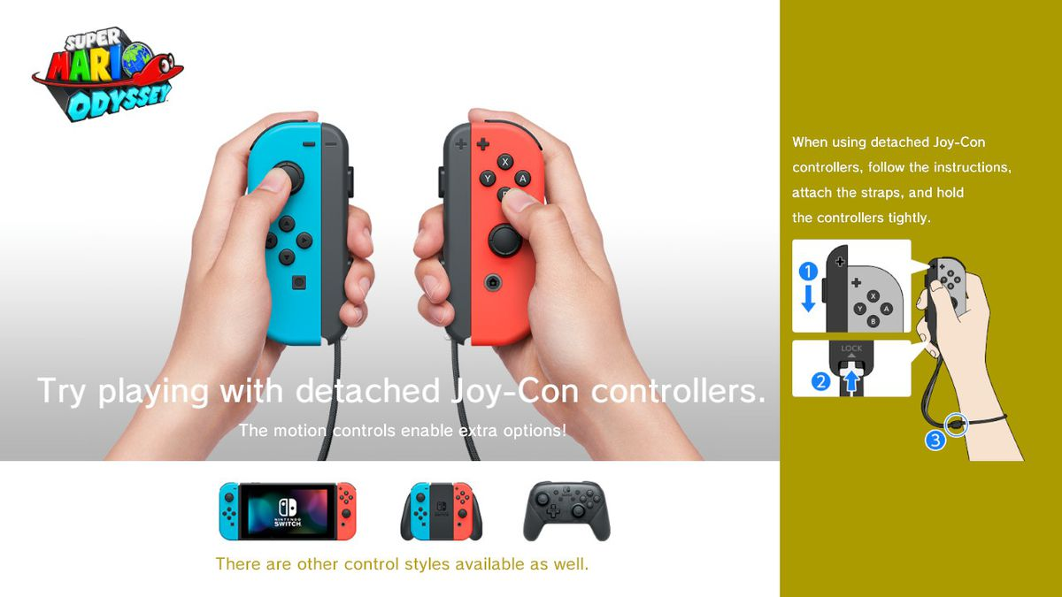 Nintendo Switch Wired Controller Plus Super Mario Odyssey | Super Mario Odyssey S Motion Controls Are Recommended But Not
