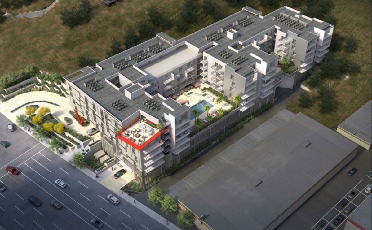 Aerial view of the project
