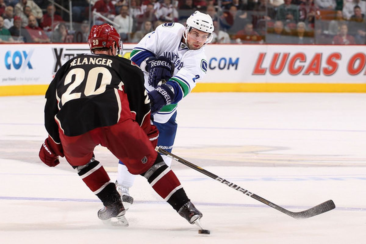 At even strength... on the penalty kill... Eric Belanger is a guy who could use some help.