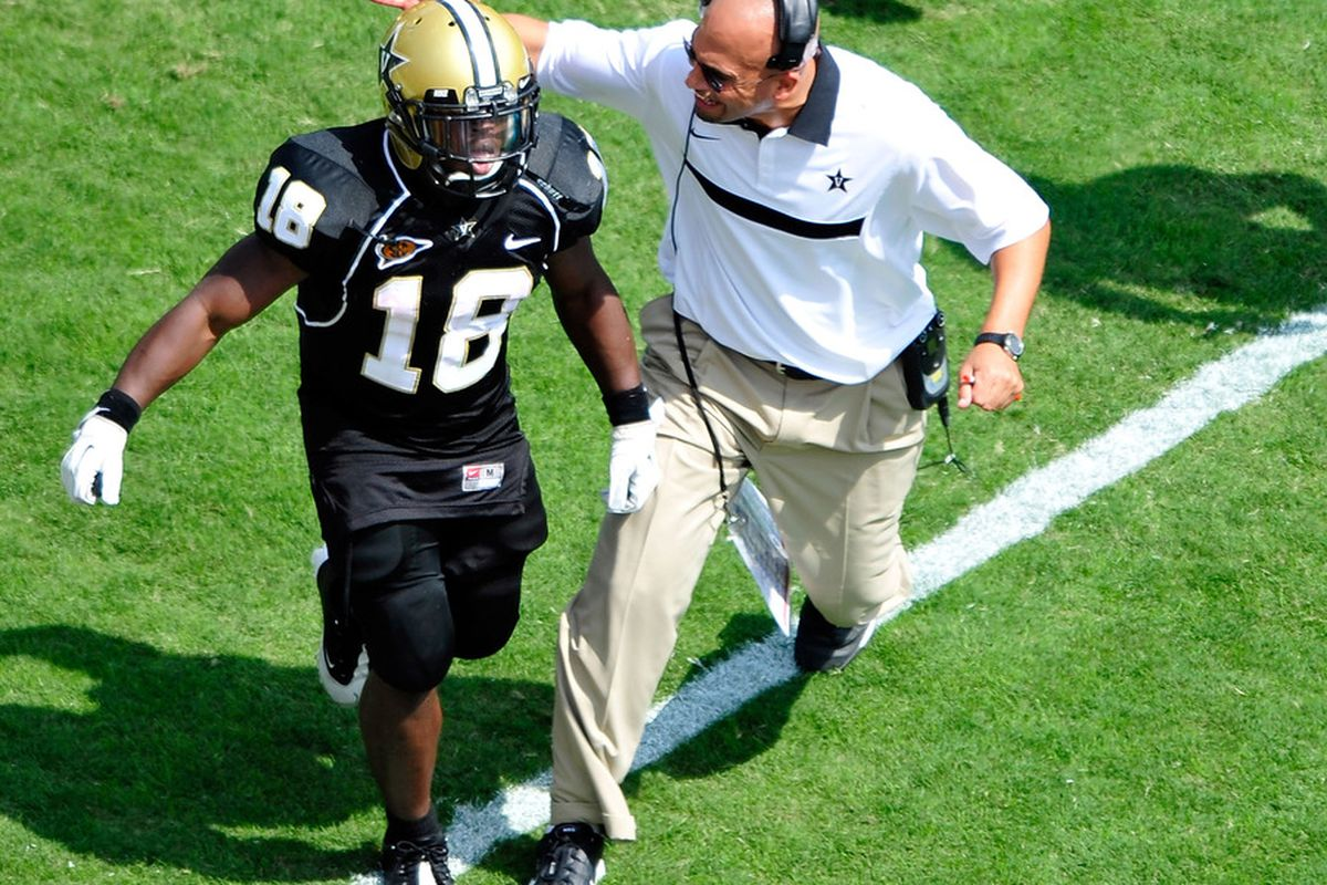 Come to Vanderbilt, where I will run out onto the field and slap you in the back of the head every time I see you make a mistake, kid.