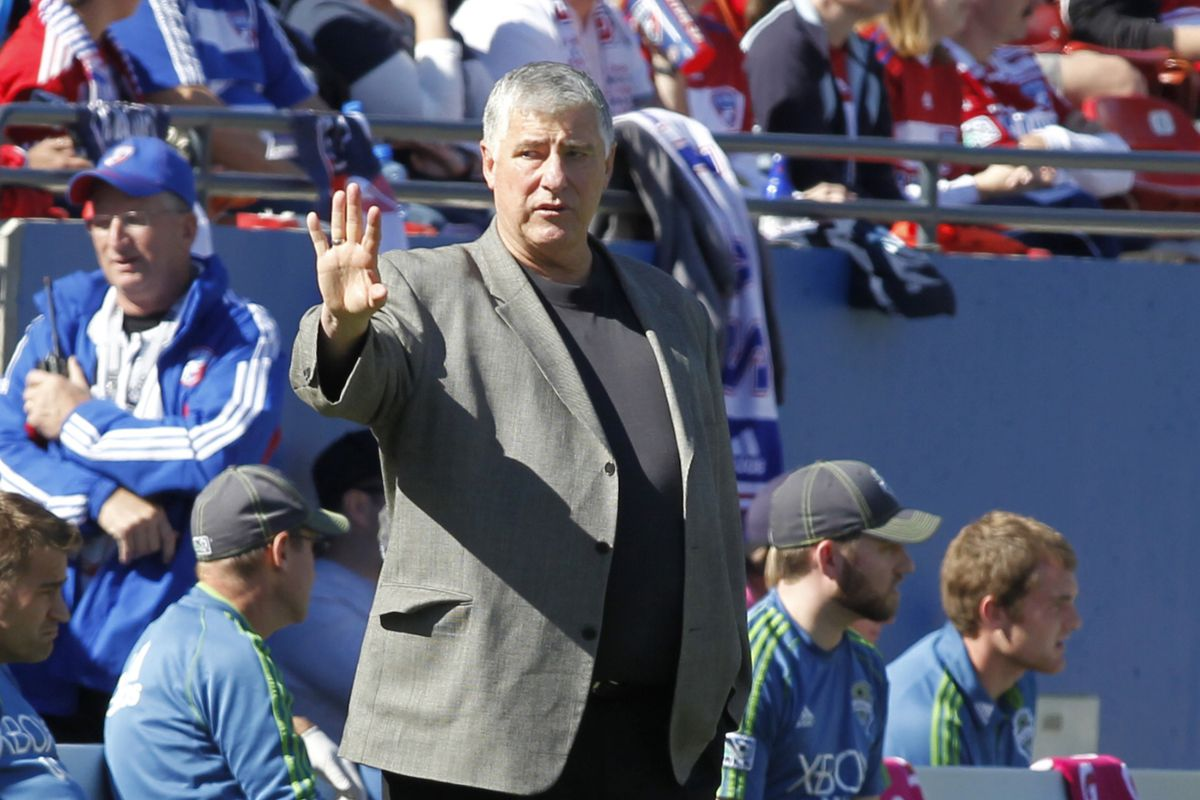 Hey, here is a look at Sigi in front of the FC Dallas crowd. Just for fun.
