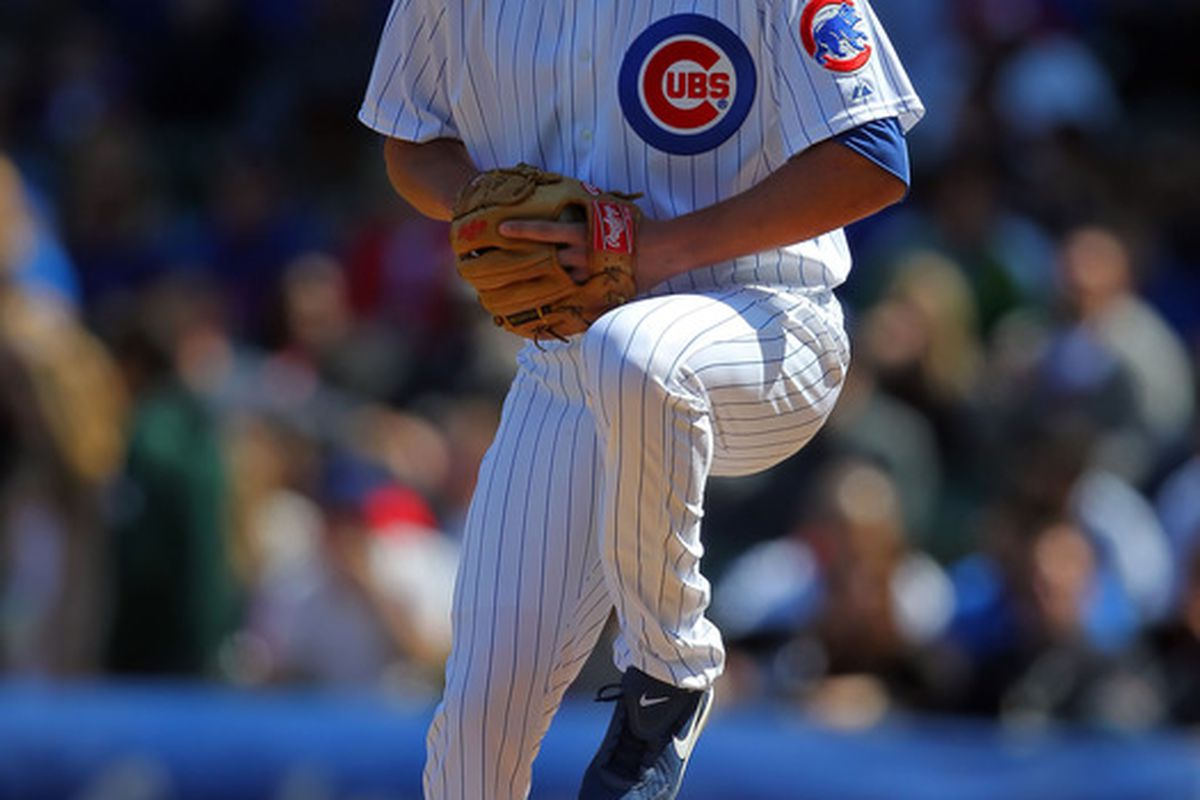 Chicago, IL, USA; Chicago Cubs pitcher Jeff Samardzija delivers a pitch during the first inning against the Washington Nationals at Wrigley Field. Credit: Dennis Wierzbicki-US PRESSWIRE