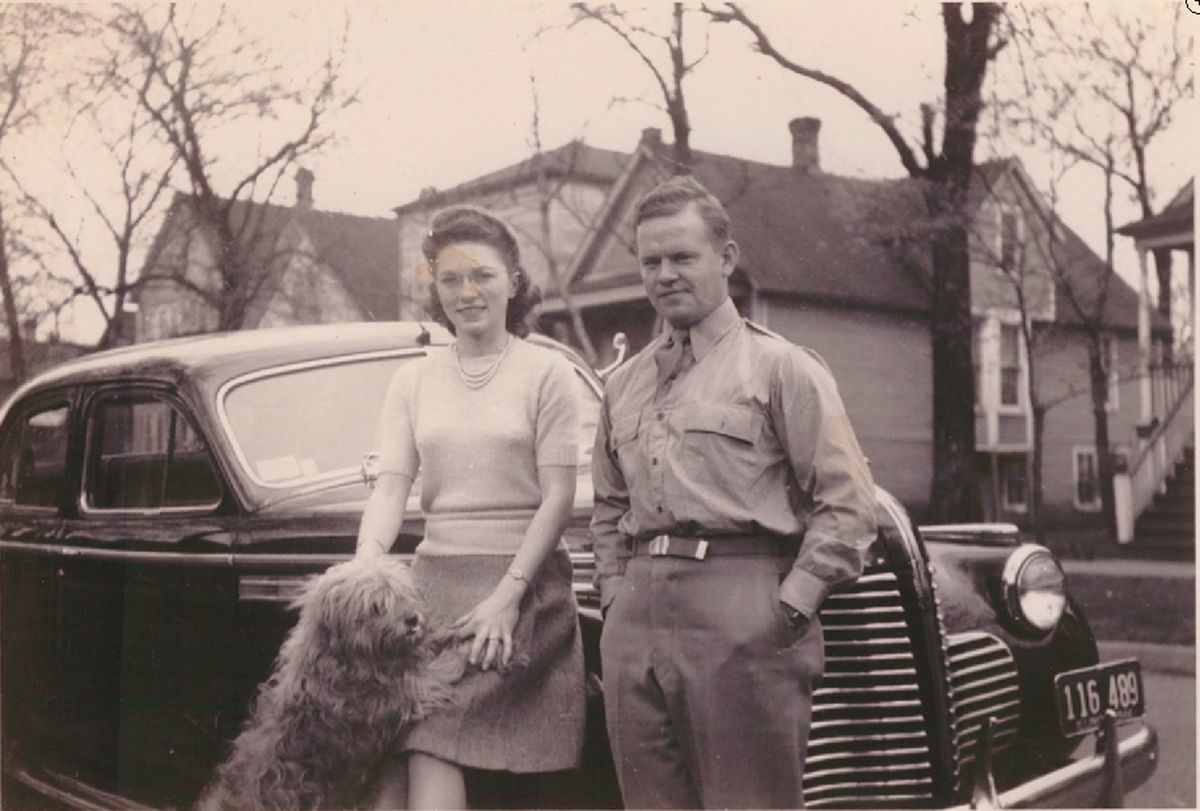 """Young Rosemary and James """"Bud"""" Wilschke in 1944."""
