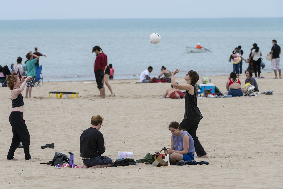 The water was still on the cold side, of course, but there was plenty else to do at Montrose Beach on Monday, May 31, 2021.
