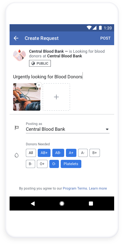 Facebook is now helping blood drives in the US reach willing