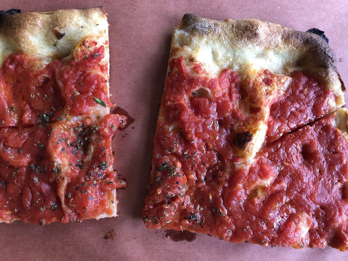 Pizza rossa at Bread & Salt