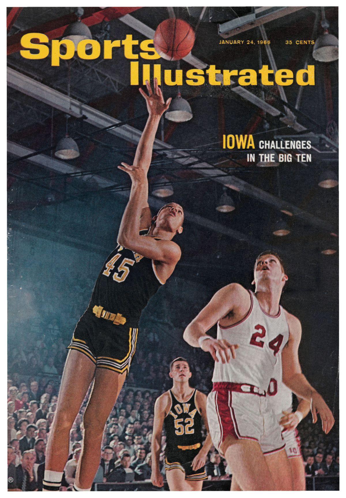 SI cover Iowa hoops George Peeples January 24 1966