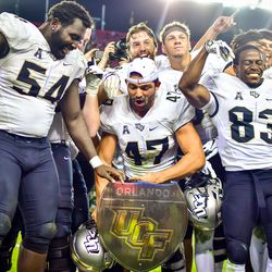 UCF wins the War on I-4 for the second year in a row, defeating So. Fla. 38-10.