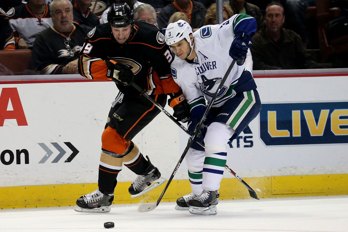 Matt Beleskey left for Boston, while Kevin Bieksa was acquired from Vancouver.