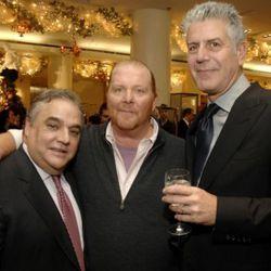 Lee Schrager, Mario Batali, Anthony Bourdain.