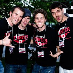 The founders of Fight the Drug are  Ryan Werner, left, Beau Lewis, Clay Olsen and Cam Lee.