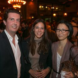 Carlos Suarez, owner of the So Hot Right Now award restaurant Rosemary's, his designer cousin, and Jee Park