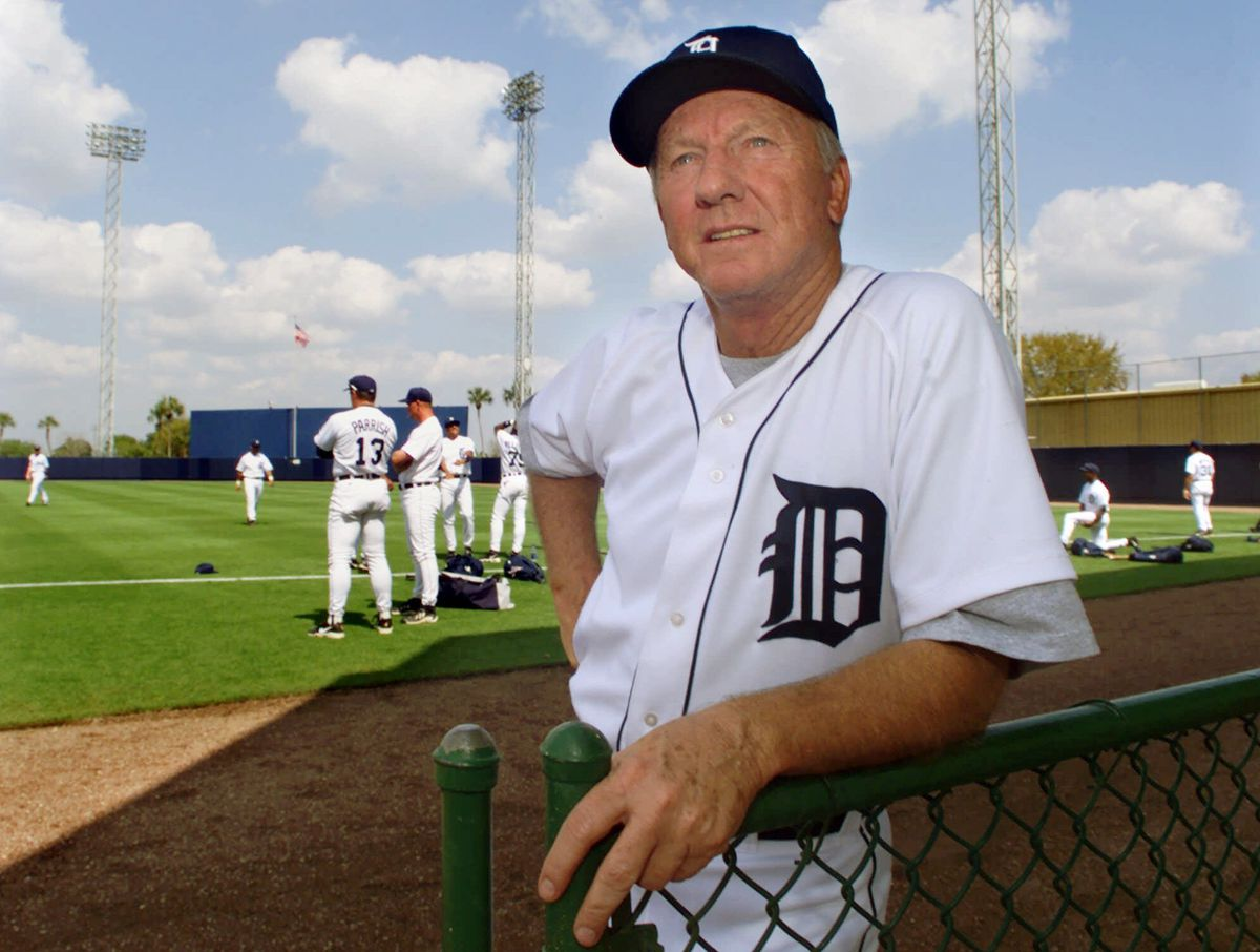 Tigers legend Al Kaline poses at the team's spring training camp in Lakeland, Fla., in  2000.