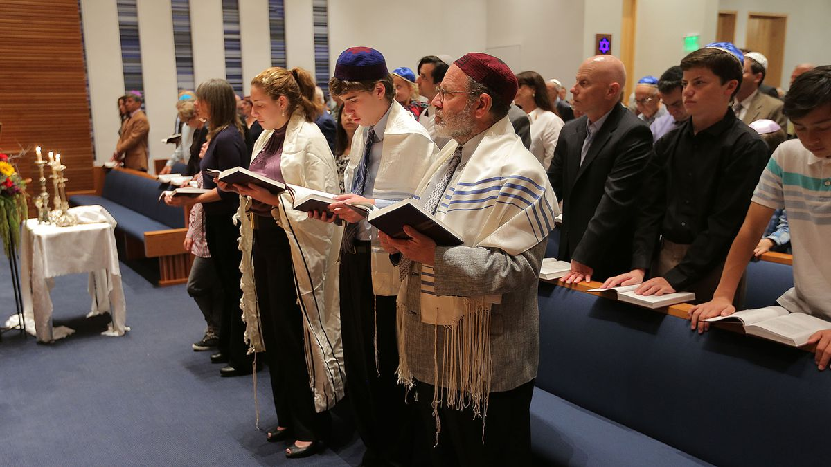 Members of the Jewish community in Park City gather on Sept. 24, 2014, in Temple Har Shalom to celebrate the new year.