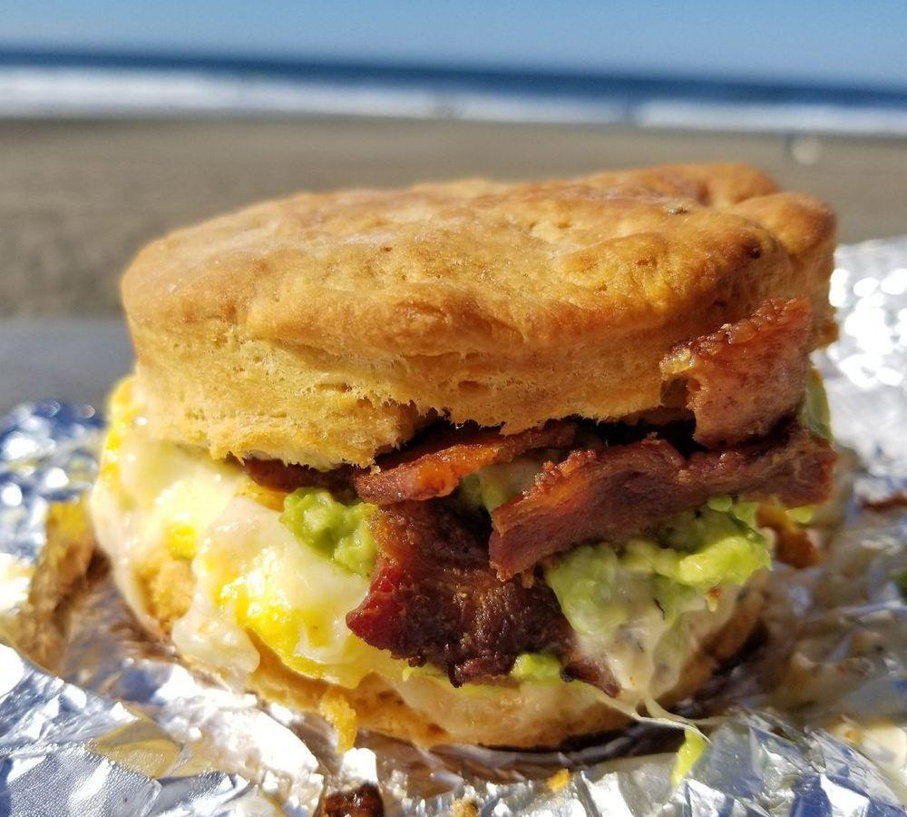 The breakfast sandwich at Devil's Teeth Baking Co