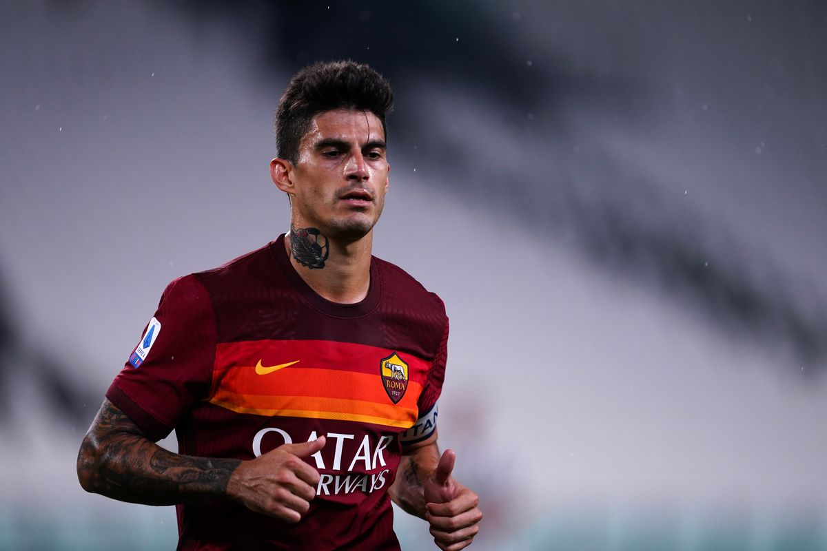 Diego Perotti of As Roma during the Serie A match between...