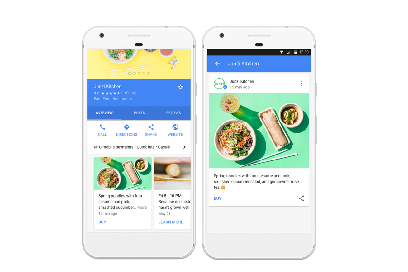 local businesses can now feature content directly in google search results