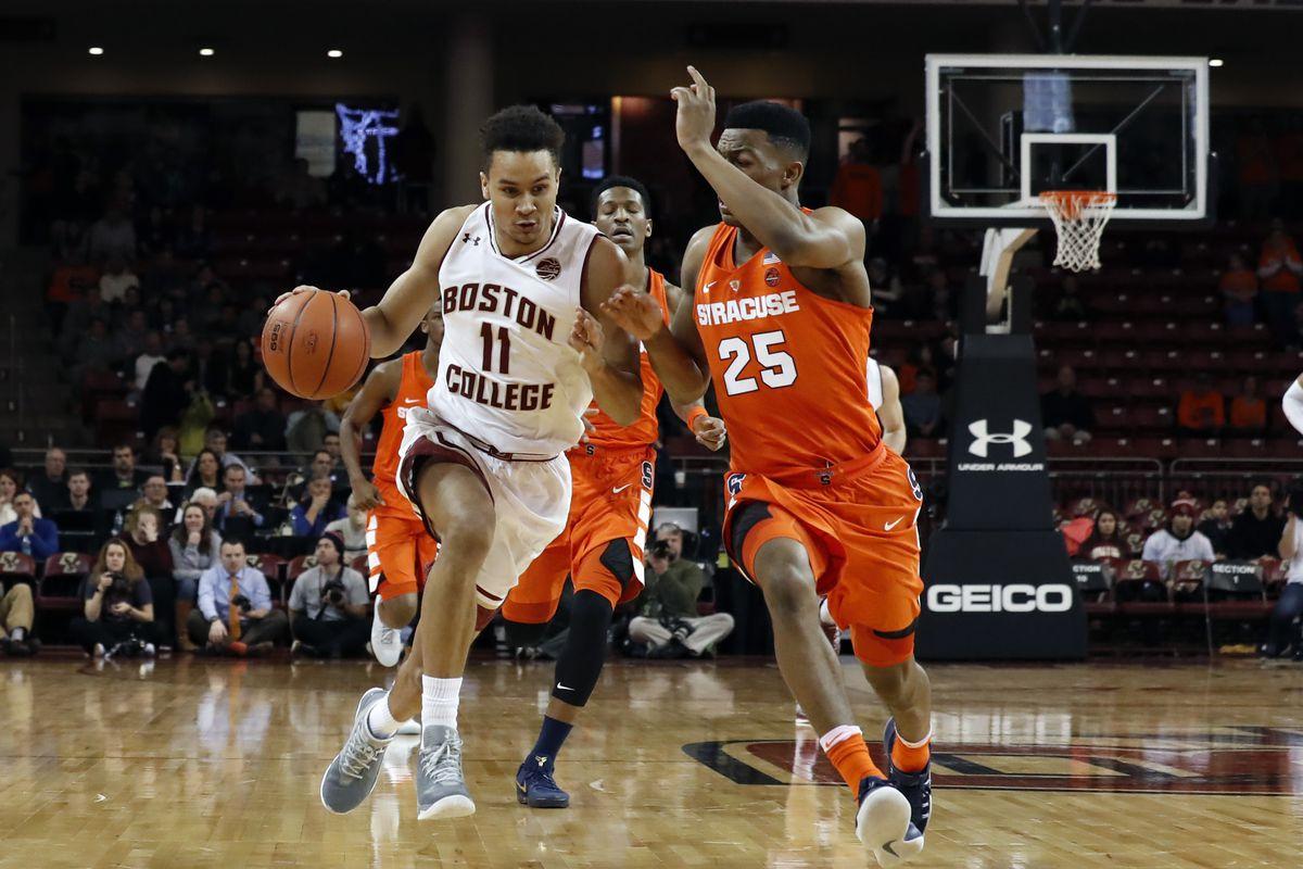 NCAA BASKETBALL: JAN 01 Syracuse at Boston College