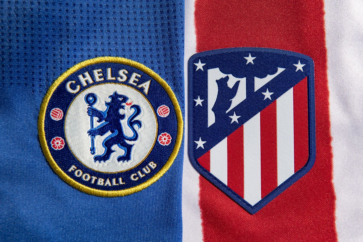 The Chelsea and Atlético Madrid Club Badges