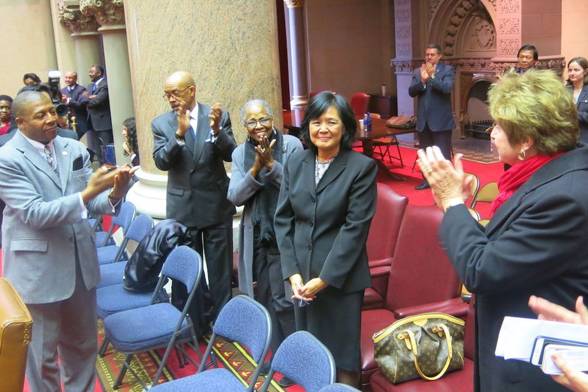 Judith Chin, a new member of the Board of Regents, after being appointed by the state legislature.