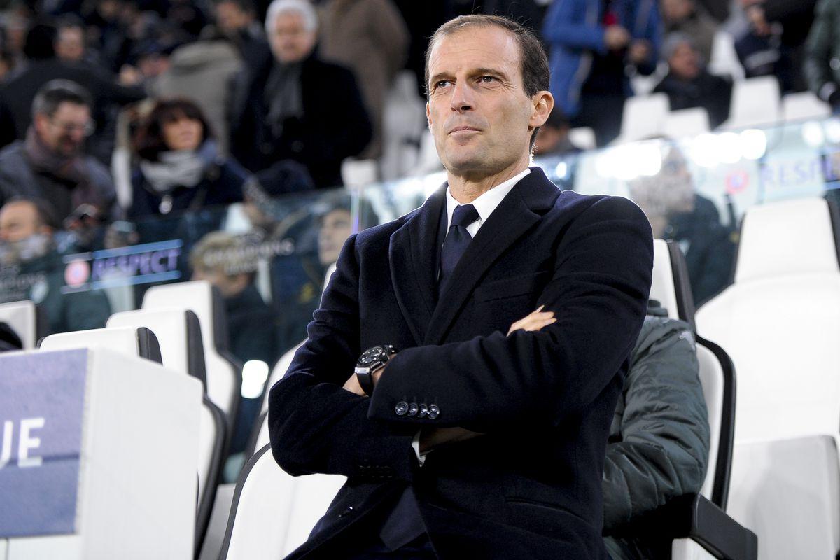 Massimiliano Allegri, head Coach of Juventus FC, looks on...
