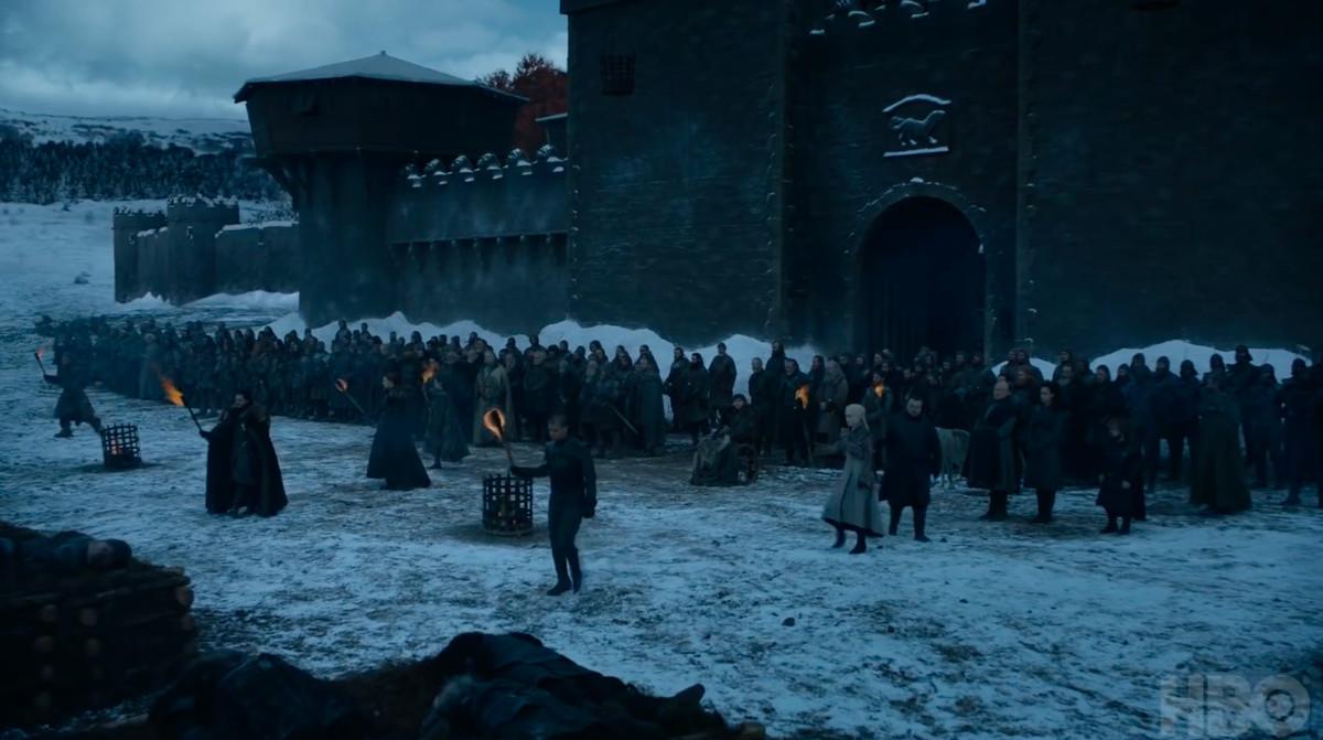 dead body burning - game of thrones season 8, episode 4