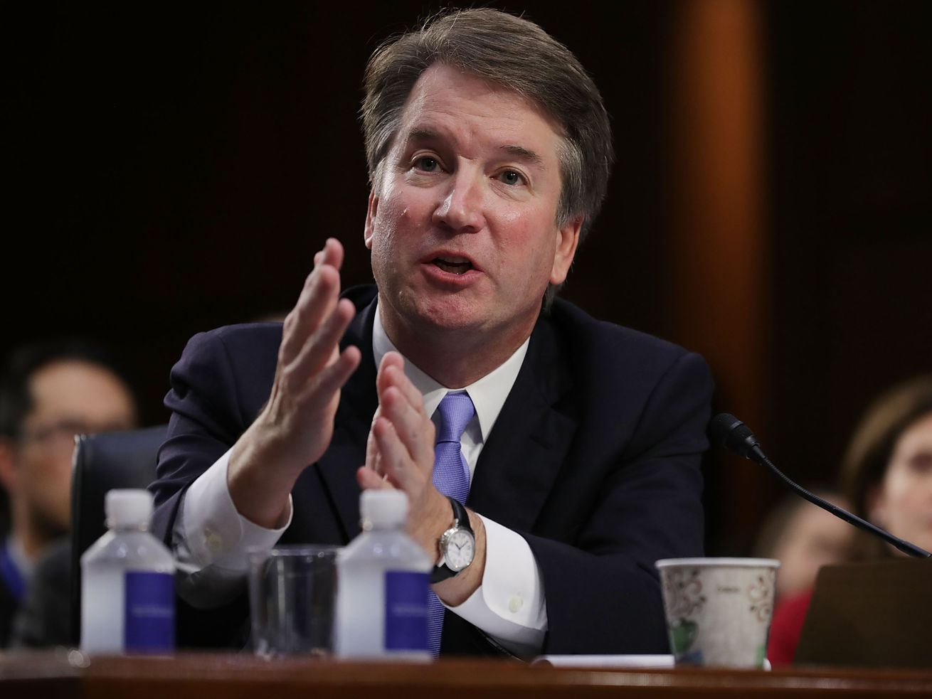 Supreme Court nominee Judge Brett Kavanaugh during his confirmation hearing on September 6, 2018.
