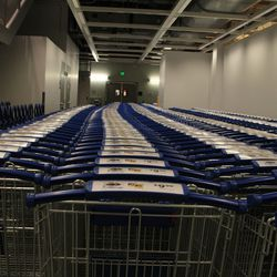 Not to mention the line of shopping carts that competes with the Great Wall of China.
