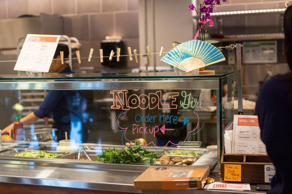 The now-closed Noodle Girl kiosk