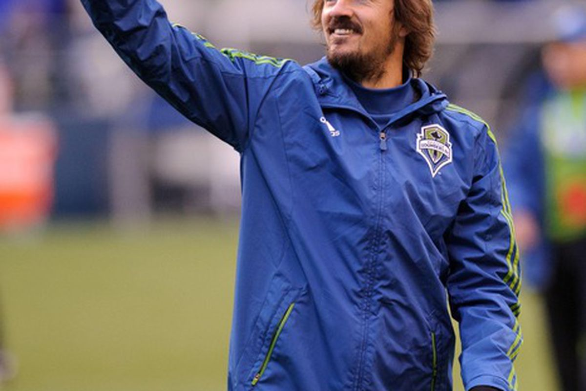 Roger Levesque is in his 10th season as a professional soccer player in the United States. Mandatory Credit: Steven Bisig-US PRESSWIRE