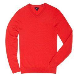 "<strong>Bonobos</strong> Yorkshire Slim V-Neck Sweater in Red <a href=""http://www.bonobos.com/slim-red-merino-wool-v-neck-sweater-for-men"">$78</a> (reg $98) at Bonobos Guide Shop"
