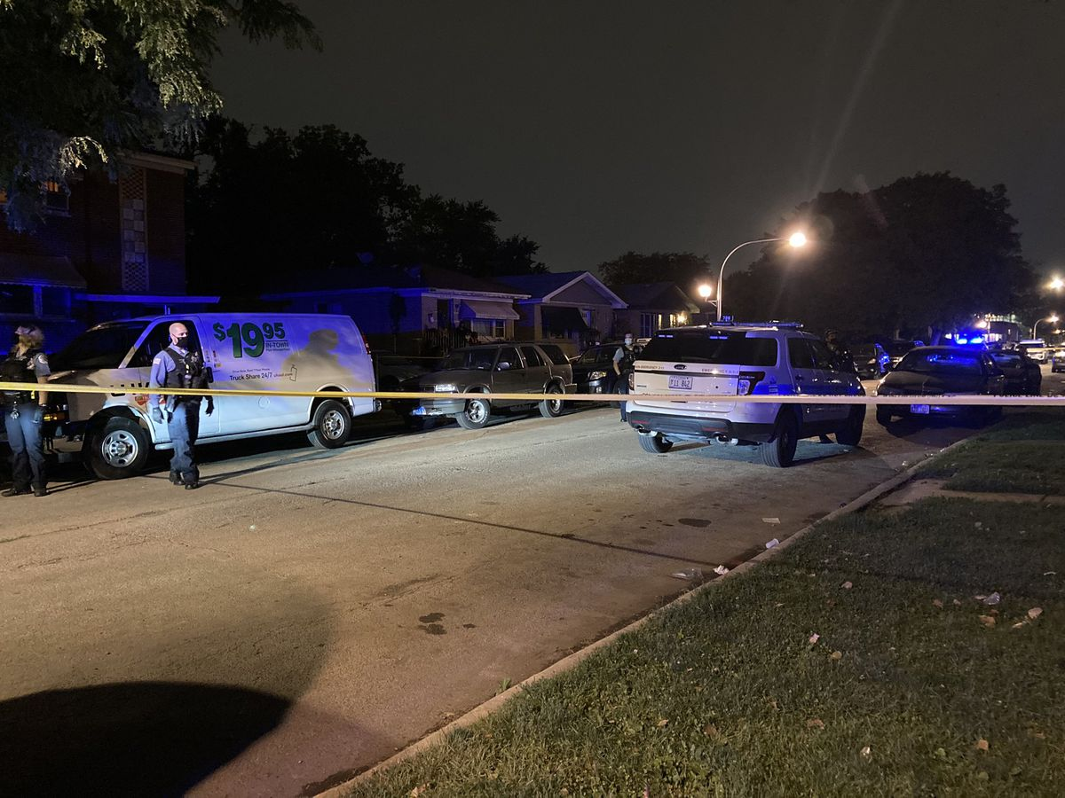 Chicago police investigate after a man was found shot to death Sept. 12, 2020, in the 6200 block of South Seeley Avenue.