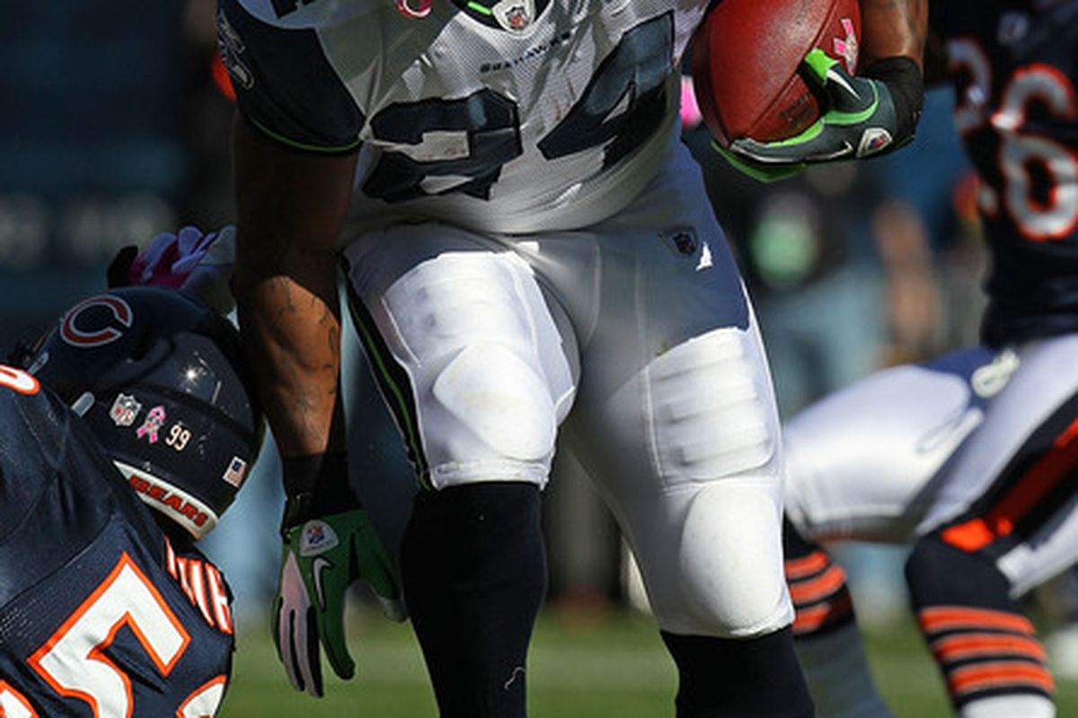 Should Marshawn Lynch be downgraded?  (Photo by Jonathan Daniel/Getty Images)