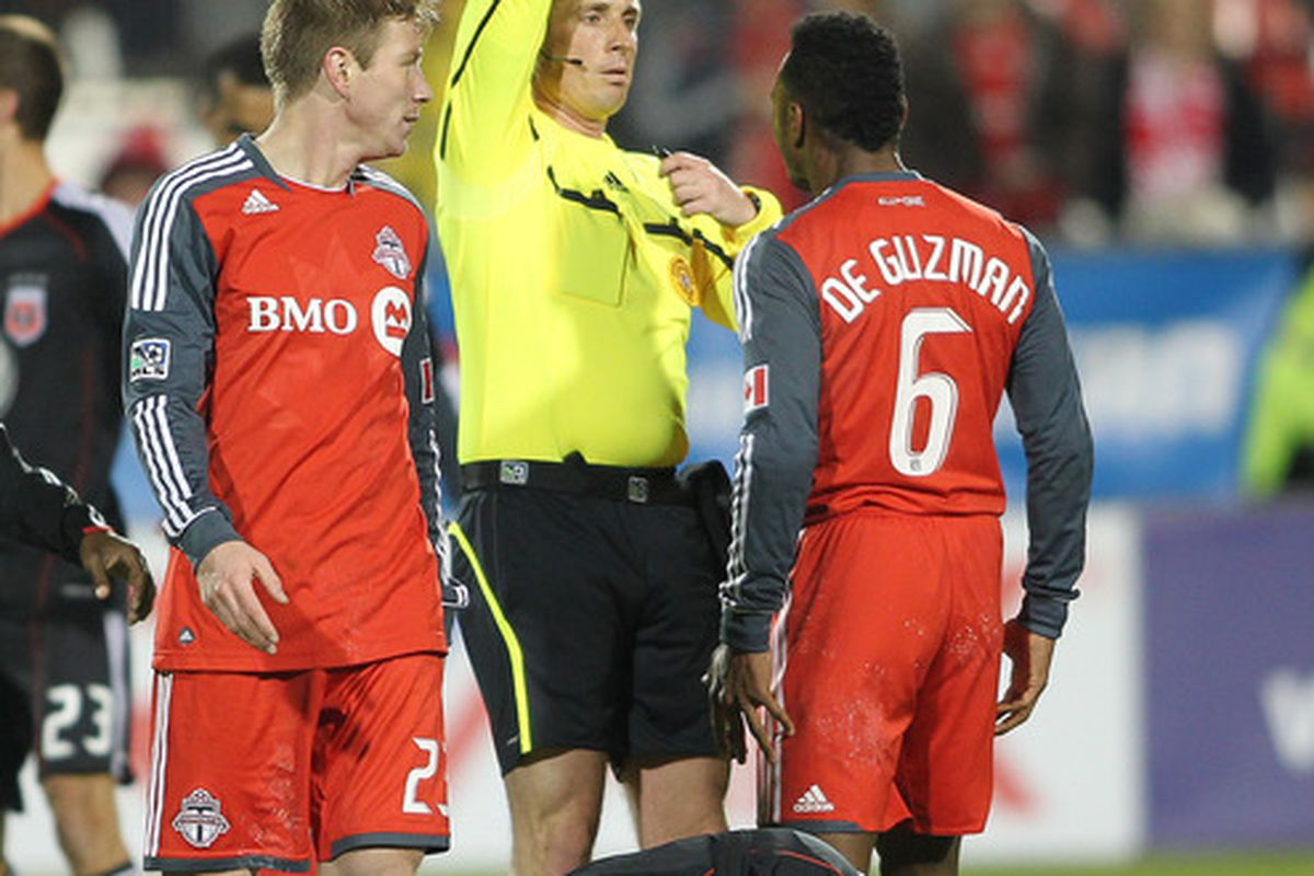 Yellow card for not trying hard enough.