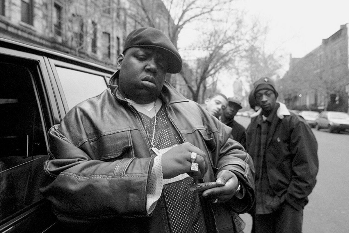 Rapper Notorious B.I.G., aka Biggie Smalls, aka Chris Wallac