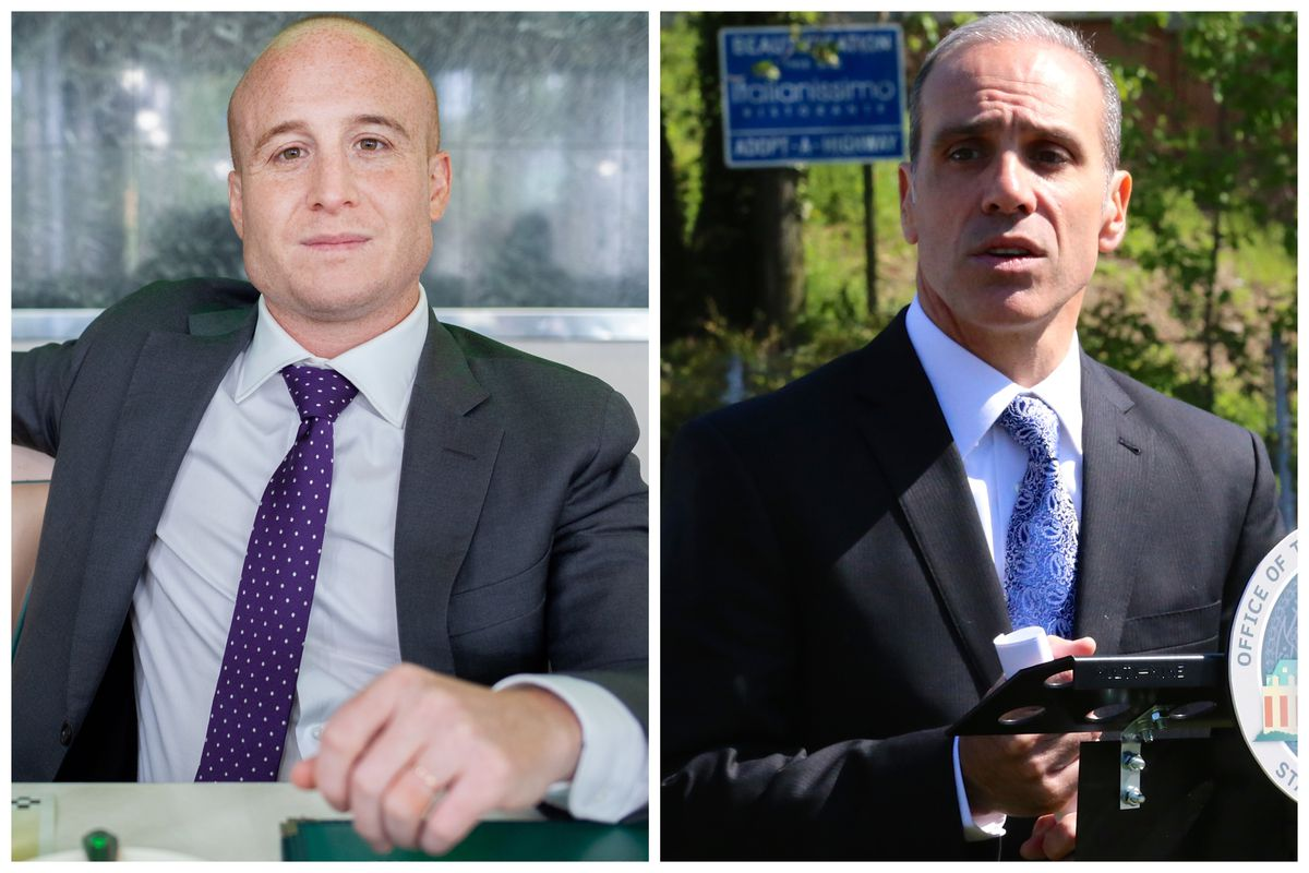 Staten Island leaders Congressional Rep. Max Rose and Borough President James Oddo.