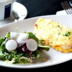The Rembrant Omelet at <b>Cafe Bonaparte</b>.