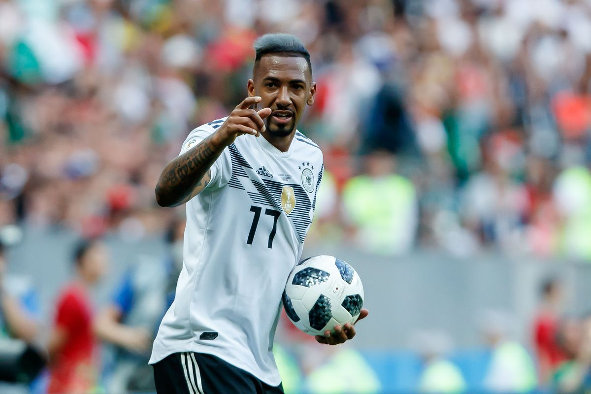 MOSCOW, RUSSIA - JUNE 17: Jerome Boateng of Germany looks on during the 2018 FIFA World Cup Russia group F match between Germany and Mexico at Luzhniki Stadium on June 17, 2018 in Moscow, Russia.