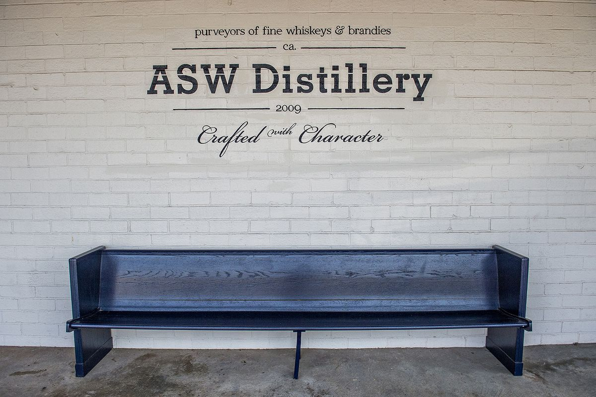 Signage at ASW Distillery in Buckhead